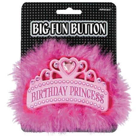 Brosa Birthday Princess pentru petreceri copii, Amscan 210183, 1 buc