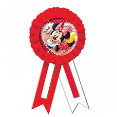 Minnie Mouse Confetti Award Ribbon - 15.2cm, Amscan 995239, 1 piece