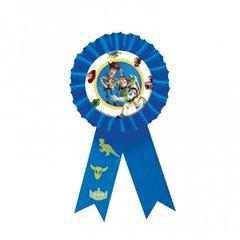 Insigna albastra pentru baietei cu Toy Story, Amscan 994015, 1 buc