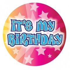 Insigna It's My Birthday pentru petreceri aniversare - 15 cm, Amscan 991360, 1 buc