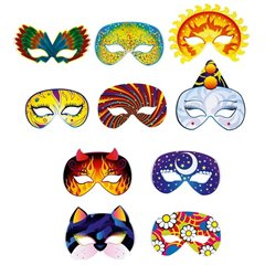 Fantasia Assorted Face Masks - Party Supplies, Radar IVC51001, Pack of 6 Pieces