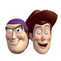 Toy Story Face Mask - Party Supplies, Amscan 994027, Pack of 4 Pieces