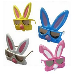 Ochelari de Soare Iepuras pentru copii, Diverse culori, Amscan 391452, 1 buc