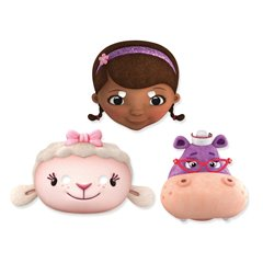 Doc McStuffins Face Mask - Party Supplies, Amscan 996911, Pack of 6 Pieces