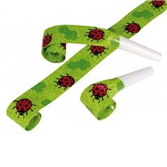 Ladybird Blowouts for parties, Amscan 6643, Pack of 4 pieces