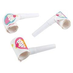 Suflatori pentru petreceri copii - Cupcake, Amscan 997219, Set 6 buc