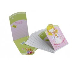 Little Princess Invitation Cards, Amscan RM551456, Pack of 6 Pieces