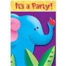 Invitatii de petrecere Jungle Party, Amscan 495026, Set 6 buc