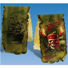 Pirates of the Caribbean Invitation Cards, Amscan RM550834, Pack of 6 Pieces
