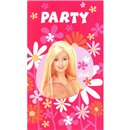 Barbie Invitation Cards, Amscan RM550375, Pack of 6 Pieces
