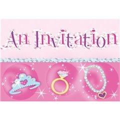 Invitatii de petrecere Princess, Amscan 499754, Set 8 buc