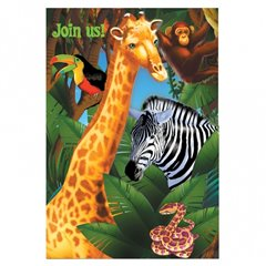 Invitatii de petrecere Safari Party, Amscan 499765, Set 6 buc