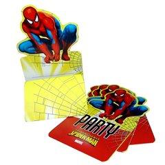 Invitatii de petrecere Spiderman, Amscan 551583, Set 6 buc
