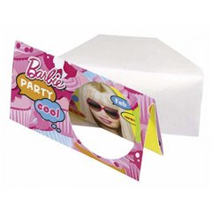 Barbie Invitation Cards, Amscan RM551975, Pack of 6 Pieces