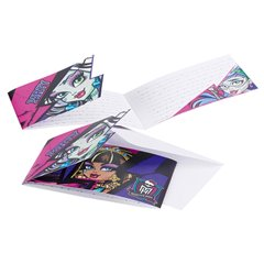 Invitatii de petrecere Monster High, Amscan RM552519, Set 6 buc