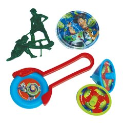 Set 24 piese (disc, puzzle, titirez, soldatei) TOY STORY, Amscan 996007