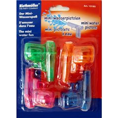 Mini water pistols Amscan 13185, Pack of 4 pieces
