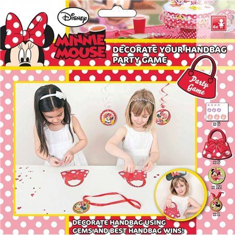 "Joc Party ""Decoreaza Gentuta"" Disney Minnie Mouse, Amscan 996862, 1 buc"