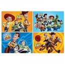 Puzzle Toy Story, Amscan 994030, Set de 4 buc