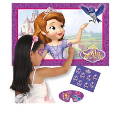 Disney Sofia the First Pin the Amulet, Party Game, Amscan 997173, 1 Piece