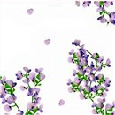 Violet Flowers Luncheon Napkins - 33 cm, Amscan 62931, Pack of 20 pieces