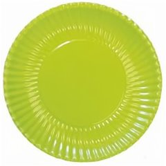 Green Paper Plates 23 cm, Radar GVI62650, Pack of 10 Pieces