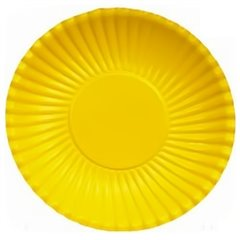 Yellow Paper Plates 23 cm, Radar GVI62279, Pack of 10 Pieces