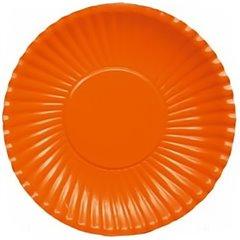 Orange Paper Plates 23 cm, Radar GVI62224, Pack of 10 Pieces