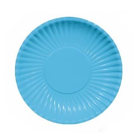 Farfurii turcoaz 23 cm pentru petreceri, Radar GVI62300, Set 10 buc