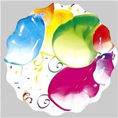 Farfurii Fancy Balloons 23 cm pentru petreceri, Radar GVI62976, Set 10 buc