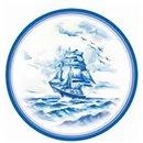 Blue Ship Paper Plates 23 cm, Radar GVI62330, Pack of 10 Pieces