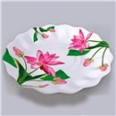 Fuchsia Flowers Paper Plates 23 cm, Radar GVI63040, Pack of 10 Pieces