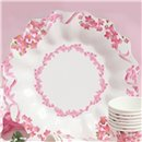 Pink Flowers Paper Plates 23 cm, Radar GVI62933, Pack of 10 Pieces
