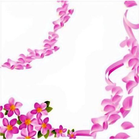Servetele de masa cu flori roz pentru petrecere - 33 cm, Radar 62937, Set 20 buc
