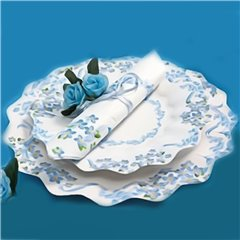 Blue Flowers Paper Plates 23 cm, Radar GVI62939, Pack of 10 Pieces
