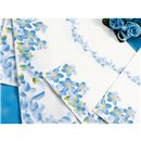 Blue Flowers Luncheon Napkins - 33 cm, Amscan 62943, Pack of 20 pieces