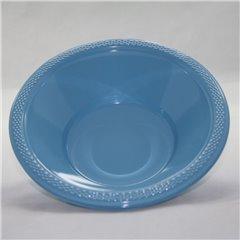 Boluri plastic Powder Blue 355ml pentru petreceri, Amscan 552286-11, Set 10 buc