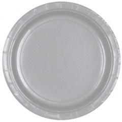 Farfurii Silver Sparkle 18 cm pentru petreceri, Amscan 54015-18 , Set 8 buc