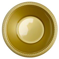 Boluri plastic Gold Sparkle 355ml pentru petreceri, Amscan 552286-19, Set 10 buc