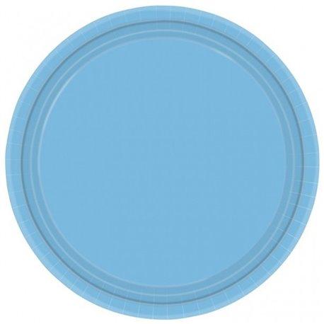 Farfurii Caribbean Blue 18 cm pentru petreceri, Amscan 54015-54 , Set 8 buc