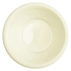 Boluri plastic Vanilla Creme 355ml pentru petreceri, Amscan 552286-57, Set 10 buc