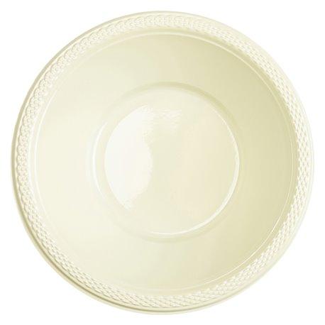 Boluri plastic Vanilla Creme 355ml pentru petreceri, Amscan RM552286-57, Set 10 buc