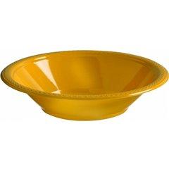 Boluri plastic Sunshine Yellow 355ml pentru petreceri, Amscan 552286-09, Set 10 buc