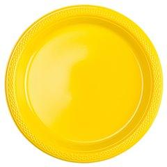 Farfurii plastic Sunshine Yellow 18 cm pentru petreceri, Amscan 552284-09, Set 10 buc