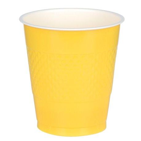 Pahare plastic Sunshine Yellow 355ml pentru petrecere, Amscan RM552287-09, Set 10 buc