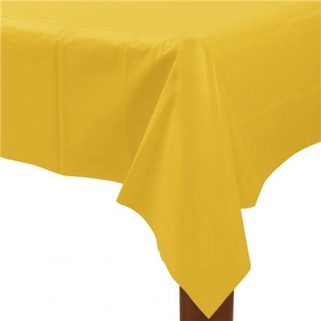 Fata de masa din plastic pentru petreceri - Sunshine Yellow, 137cm x 274 cm, Amscan 77015-09, 1 buc