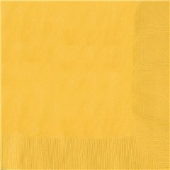 Servetele de masa uni galbene pentru petreceri - 33 cm, Amscan 51015-09, Set 20 buc
