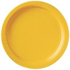 Farfurii Sunshine Yellow 18 cm pentru petreceri, Amscan 54015-09 , Set 8 buc