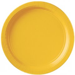 Farfurii uni Sunshine Yellow 23 cm pentru petreceri, Amscan 55015-09, Set 8 buc