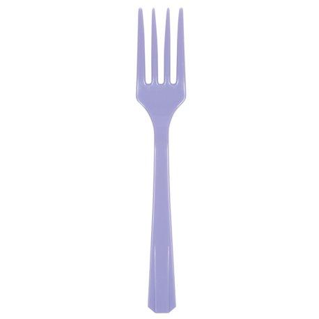 Furculite plastic Hydrangea - Lavender pentru petreceri, Amscan RM552290-59, Set 10 buc